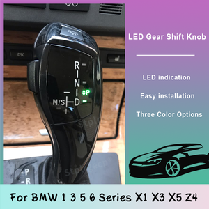LED Gear Shift Knob Shifter Lever For BMW 1 3 5 6 Series E90 E60 E46 85 E86 E39 E53 E92 E87 E93 E83 X1 X3 Z4 E89 Car Accessories