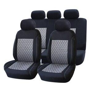 Image 5 - ROWNFUR ポリエステル車のシートカバーユニバーサルフィットほとんどの車の座席プロテクター四季車カバーのカバーインテリアスタイリング 1 セット