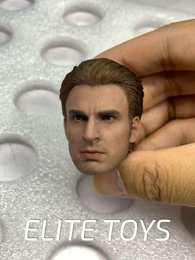 "1//6th Captain America Steve Rogers Head Sculpt F 12/"" Male Body Model Figure Toy"
