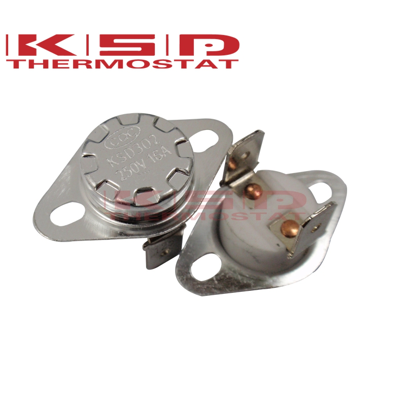 Ceramics Thermostat Thermostat KSD301/KSD302 40C~300C 16A250V NC Normal Closed Temperature Switch 40C 50C 65C 95C 130C 120C150C