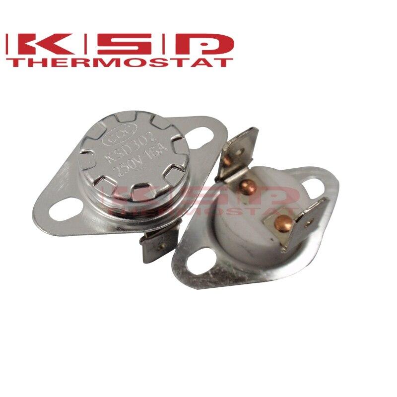 Ceramics Thermostat Thermostat KSD301/KSD302 40C~300C 16A250V NC Normal Closed Temperature Switch 40C 50C 65C 95C 130C 120C150C