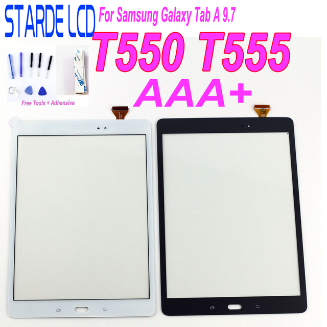 9.7'' Touch For Samsung Galaxy Tab A 9.7 T550 T555 SM-T550 SM-T555 Tablet Touchscreen Panel Front Glass Parts