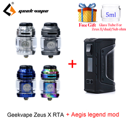 Vape бак Geekvape Zeus X RTA с 810 Delrin капельным наконечником и aegis legend mod электронная сигарета атомайзер vs zeus rta zeus dual