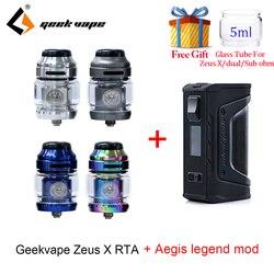 Vape serbatoio Geekvape Zeus X RTA con 810 Delrin punta a goccia e aegis leggenda mod sigaretta Elettronica atomizzatore vs zeus rta zeus dual