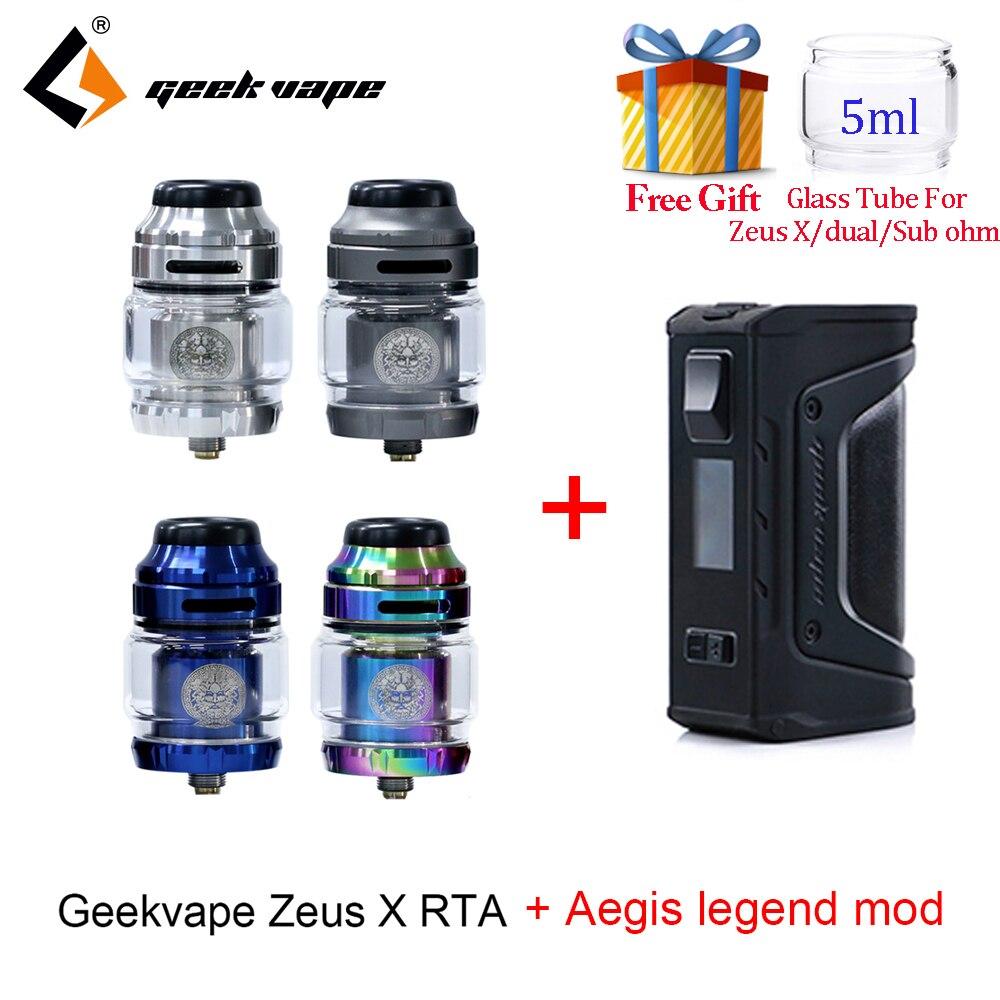 Vape tank Geekvape Zeus X RTA with 810 Delrin drip tip and aegis legend mod Electronic cigarette atomizer vs zeus rta zeus dual