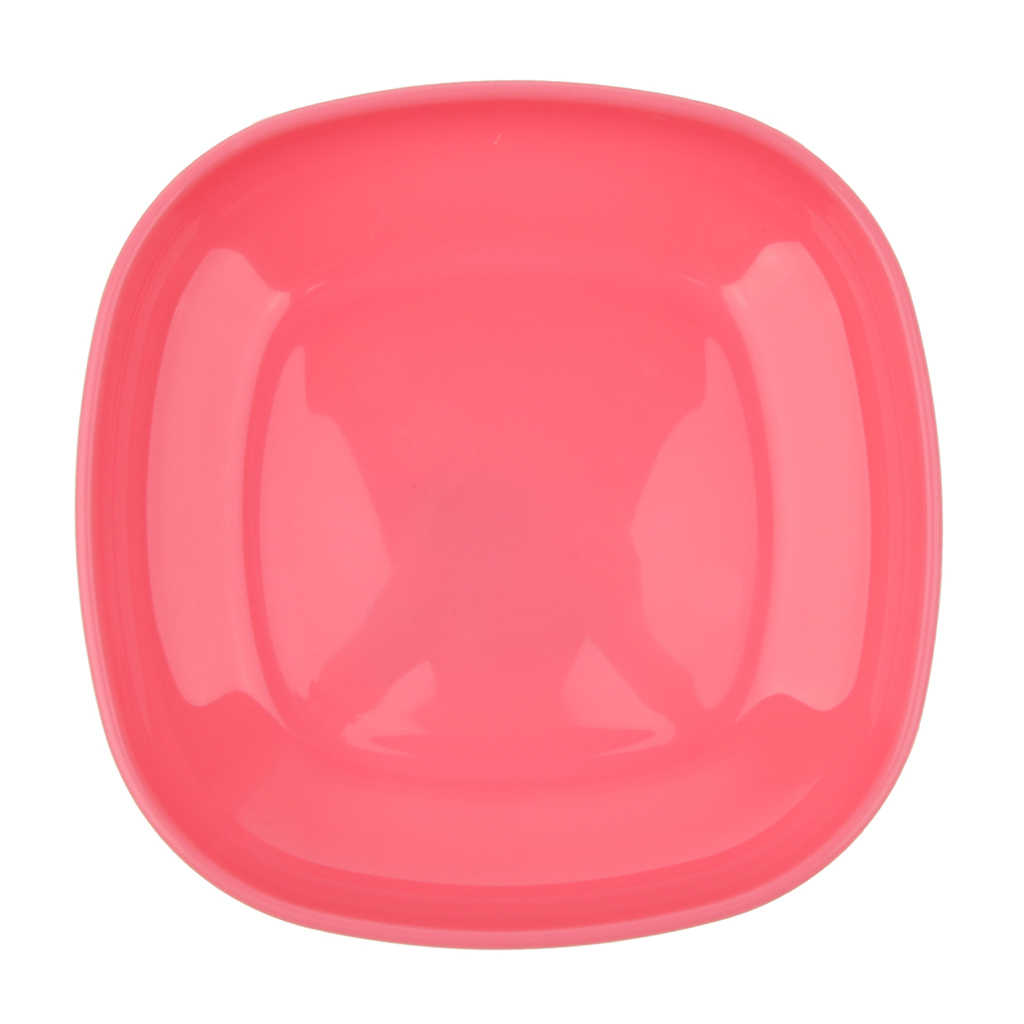 Reusable Plastic Plate Snack Dish Outdoor Camping Picnic Food Container Tray