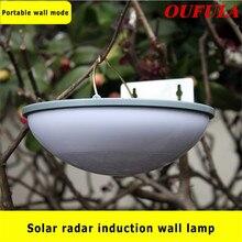 OUFULA Solar Wall Lamp LED Super Bright Home Outdoor Waterproof Courtyard Fence Radar Induction Street Garden