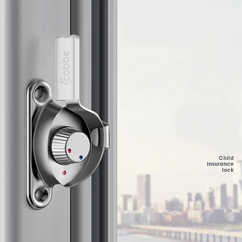 stainless steel sliding door window lock buckle double sided crescent safety lock vintage door and window hardware accessories