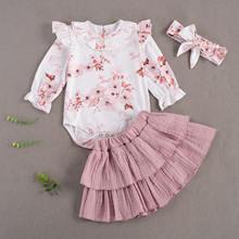 Pudcoco новорожденных для маленьких девочек одежда детей толстовка