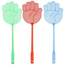 Fly-Swatter Baffle Pest-Control Plastic Cute Palm-Shape Long-Handle Non-Toxic Household
