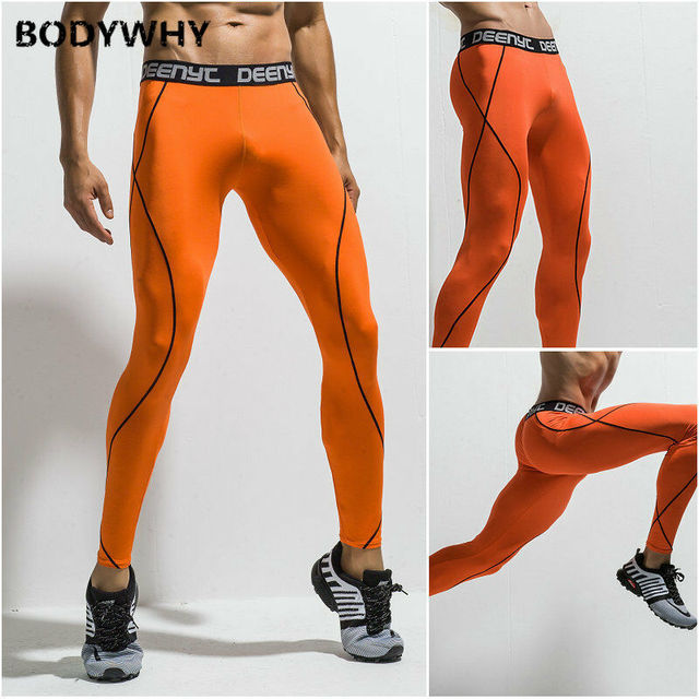 Mens Gym Sport Thermal Tight Compression Base Layer Pants Long Leggings Trousers  Skinny  Full Length 5