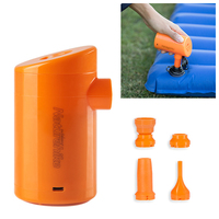 Outdoor 2 in 1 Mini Electric USB Inflator Deflate Air Pump for Camping Swimming pool bed inflation deflating portable lightweigh