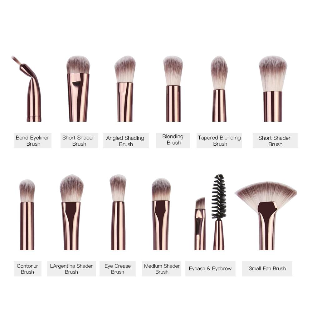 MAANGE Pro 3/5/12 Pcs Makeup Brushes Set Eyeshadow Eyeliner Eyelash Eyebrow Brush Beauty Make up Blending Tools Maquiagem 5