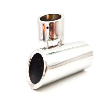 2pcs Polished Silver Stainless Car Tail Exhaust Tip Pipe for BMW E90 E92 325i 328i image