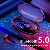 Portable Wireless bluetooth 5.0 Earphone Business Bass stereo sound DPS Noise Cancelling With HD Mic for Xiaomi