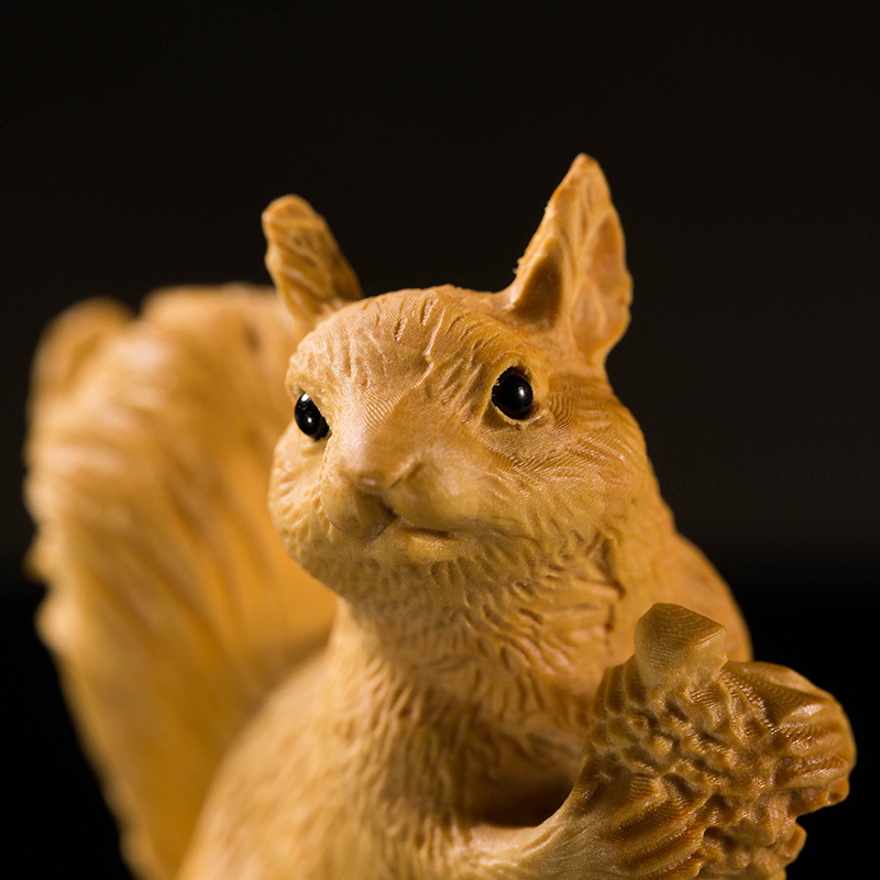 Children Wooden Small Bedroom Squirrel Birthday Gift Kids Home Decoration New BA