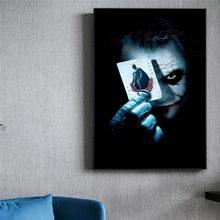 Coringa filme jogando cartões pintura da lona mordern animais arte posters e cópias da parede imagem para sala de estar decoração casa