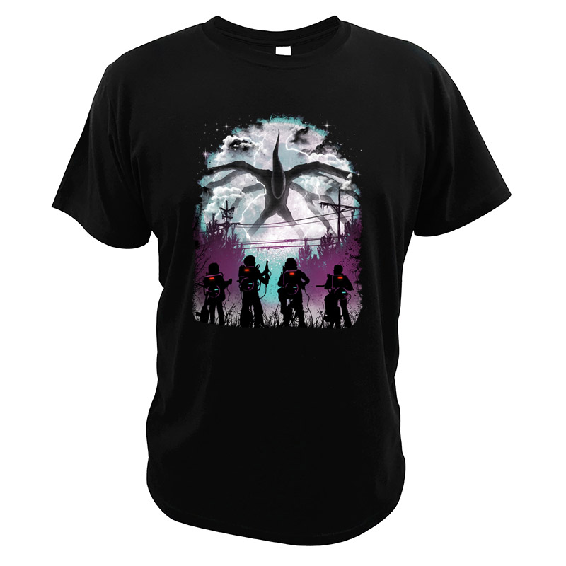 Demogorgon Tshirt Fantasy Horror TV Series Tops For Men Stranger Things Digital Print 100% Cotton High Quality Tees image