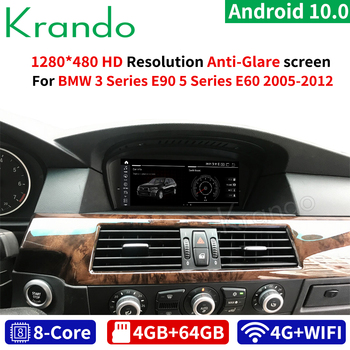 Krando Android Qualcomm 10.0 4G 64G 8.8'' Car Navigation for BMW 5 Series E60/BMW 3 Series E90 2005-2012 CIC CCC Audio image