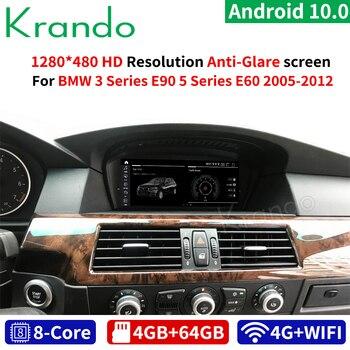 Krando Android Qualcomm 10.0 4G 64G 8.8'' Car Navigation for BMW 5 Series E60/BMW 3 Series E90 2005-2012 CIC CCC Audio