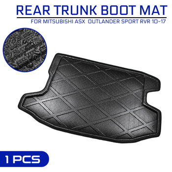 Car Floor Mat Carpet For Mitsubishi ASX Outlander Sport RVR 2010-2017 Rear Trunk Anti-mud Cover image