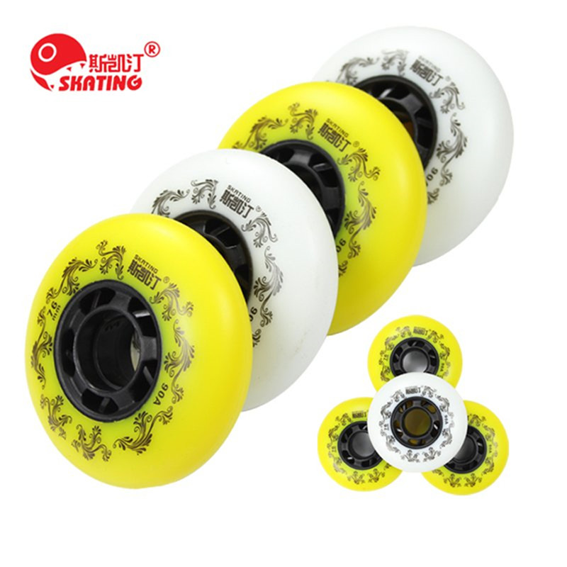 Free Shipping Branded SKATING 3rd 90A Inline Skates Wheel Braking Roller Blade Rodas Slide Skating Ruedas For Sliding Paiting