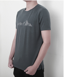 Image 2 - 2019 גברים צמר מרינו T חולצה 100% צמר מרינו איש ספורט חולצה גודל S XL רך לחות הפתילה ריח התנגדות 150G הנחה
