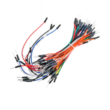 65pcs/Lot New Solderless Flexible Breadboard Jumper wires Cables Bread plate line