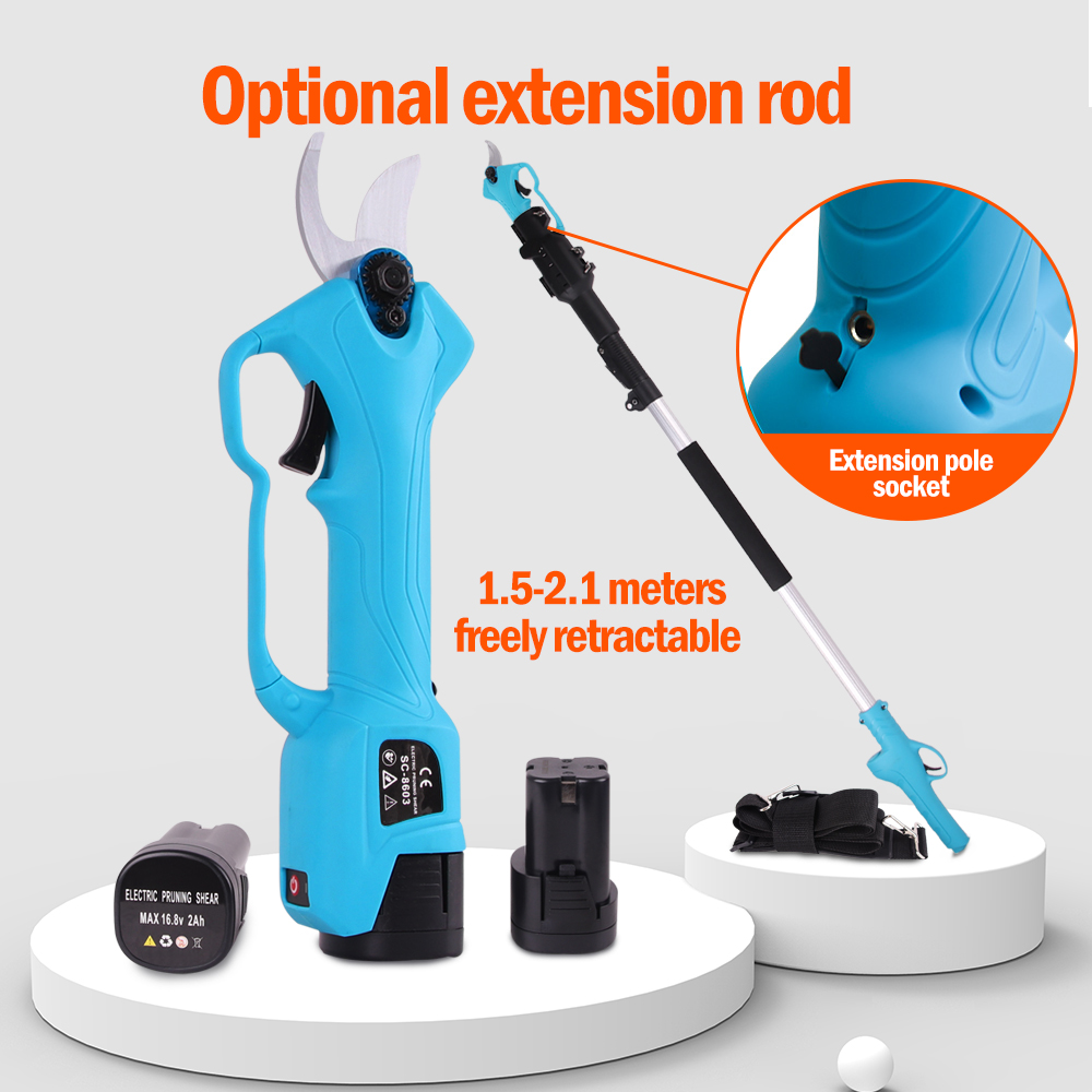SWANSOFT 16 8V 88VF 28mm Cordless Pruner Electric Pruning Shear Lithium-ion Battery Efficient Fruit Tree Bonsai Pruning Branches