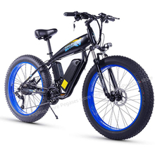 1000W Fat Tire Electric Bike E bike Mountain Bike 26inch Powerful Electric Bicycle with Removable 48V 13Ah Lithium-Iion Battery