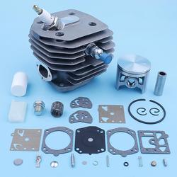 45mm cilindro pistón carbohidratos Kit para Husqvarna 154 254 154XP 254XP motosierra bujía de descompresión de filtro de combustible de repuesto parte