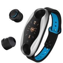 T90 Fitness Bracelet Bluetooth 5.0 with Wireless Earphones IP67 Waterproof Sport Smart Watch Clock for Android IOS Phone