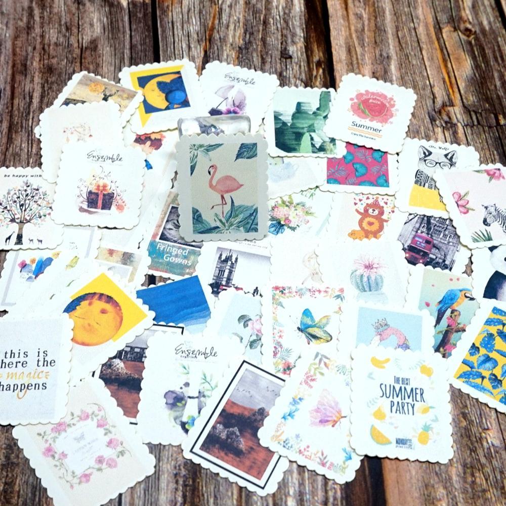 42PCS Summer Time Paper Stickers Decoration DIY Ablum Diary Scrapbooking Sticker Girls Boys Students Children Kids Gift Stickers