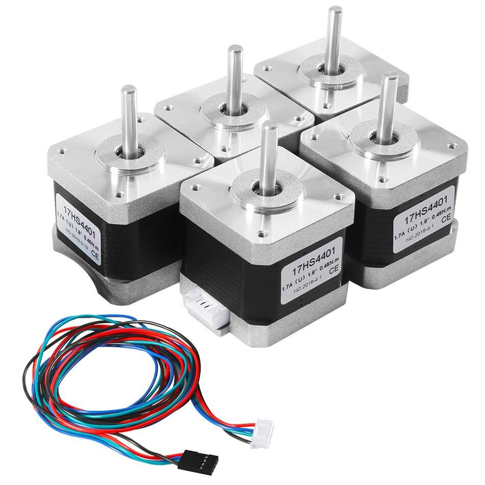 5 pièces imprimante 3D 17HS4401 moteur avec câble 4 fils pour imprimante 3D Nema moteur pas à pas 17 42BYGH
