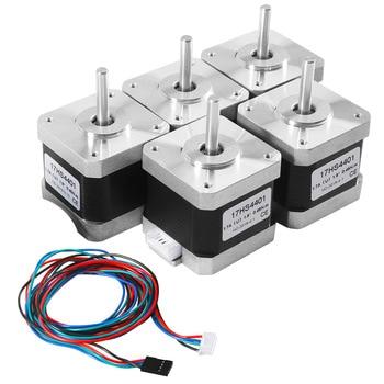 5Pcs 3D Printer 17HS4401 Motor with Cable 4 Lead For 3D Printer Nema Stepper Motor 17 42BYGH
