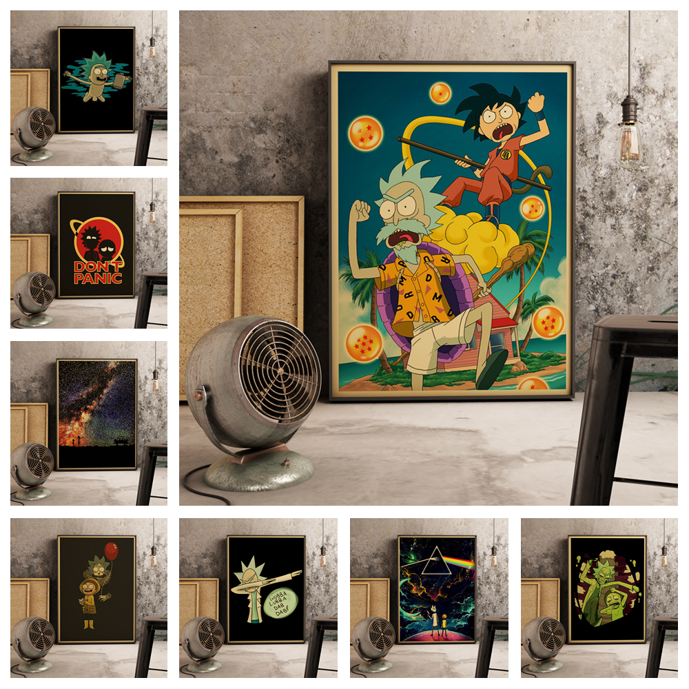 Super Popular Anime Rick And Morty Retro Style Home Decoration Painting Poster Canvas Painting Art Decor Wall Art No Frame O873