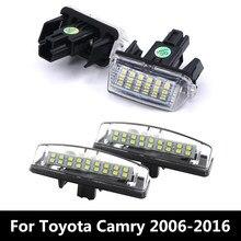Автомобильный светильник номерного знака 12V Светодиодная лампа для номерного знака для Toyota Camry 40 V40 XV40 50 V50 XV50 2006 2007 2008 2009 2010 - 2016 2017