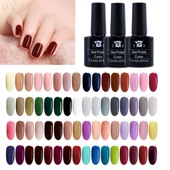 Winter Hot Sale 7.3ml Color Gels Nails Polish 80 Colors Soak Off Pure Color LED/UV Gel Nails Art Painting Gel Varnishes Lacquers