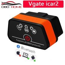Vgate Icar2 Bluetooth OBD2 Diagnostic Scanner ELM327 For all OBD2 Protocols Scanner for Android/PC Code Reader For Most Cars