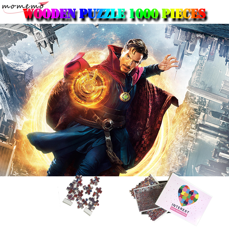MOMEMO Doctor Strange Jigsaw Puzzle Wooden 1000 Pieces Adults Puzzles Movies Hero Pattern Puzzle Toy Puzzle Games for Kids Gifts