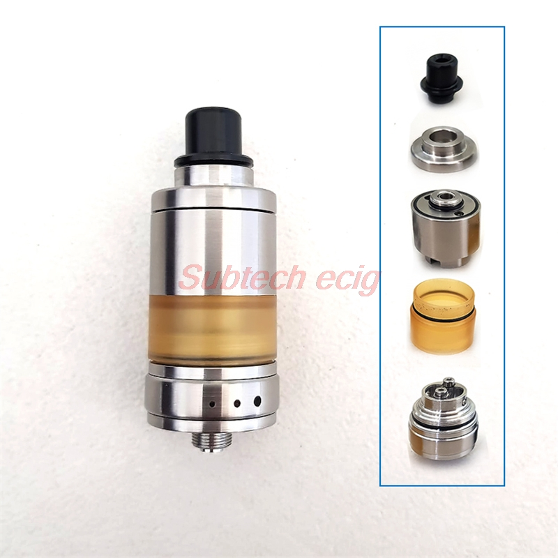 SXK Style Alpha Rta Rebuildable Tank By Luca Creation Vape Atomizer 316ss 22mm With BF Pin Adjustable Airflow Control Vape Tank