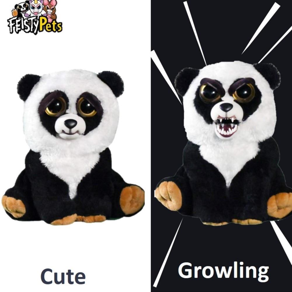 Feisty Pets toys, peluche de peluche, animal enojado, muñeco de regalo de panda Lote de 8 unidades de figuras de acción de Panda, Panda, Mini modelo de PVC para niños, juguetes de animales para niños, regalos de cumpleaños
