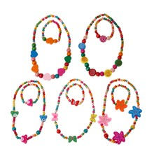 Princess Necklace Bracelet Jewelry Set Toddler Kids Costume Jewelry for Kids(China)