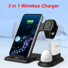 New 3 In 1 10W Wireless Charger for Iphone Double Coil Charg