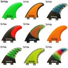 SRFDA Surf Fins Fcs/Fins Quillas Quilhas Keels 3pcs High Quality FCS-G5 Honeycomb Fiberglass Tail Surfboard Thrusters Rudder S