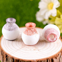 Resin Miniature Small Mouth Vase DIY Craft Accessory Home Garden Decoration Resin vase small ornaments mini crafts decoration(China)