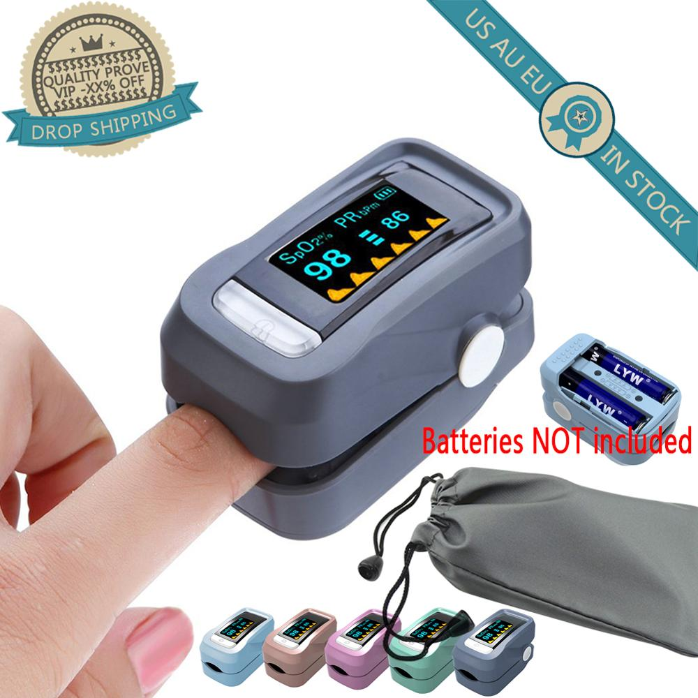 LED Finger Blood Pulse Oxygen Meter Oximetry Saturation Blood Oximeter Home Tool Blood Pressure Meter  Household Health Monitors