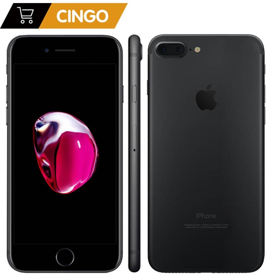 Apple iphone 7 plus 3 gb ram 32/128 gb/256 gb ios telefone celular lte 12.0mp câmera apple quad-core impressão digital 12mp 2910ma