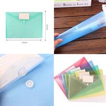 File Folder Stationery Document-Bag Portfolio Office-Case Snap Information Clear A4 School