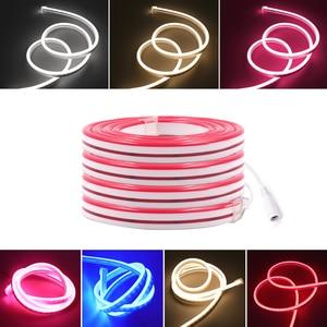Image 3 - 12V LED Bande de Lumière Au Néon de Corde Dimmable 2835 120led s/m 6mm Néon Flexible Imperméable Enseignes Au Néon 1m 2m 3m 4m 5m 7 Couleurs
